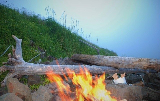 Beach Fire at Bay of Fundy